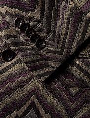 Bertoni - Suit Karlsen -Bloch - enkelknäppta kostymer - 295 black berry - 5