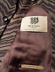 Bertoni - Suit Karlsen -Bloch - enkelknäppta kostymer - 295 black berry - 6