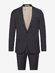 Bertoni - Davidsen-Ravn - enkelknäppta kostymer - 997 jet black - 0