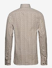 Bertoni - Hjalmar - business skjortor - 890 coffee bean - 1