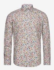 Bertoni - Gustav - casual skjortor - 633 aqua gray - 0
