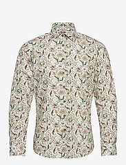 Bertoni - Dennis - casual skjortor - 615 gray green - 0