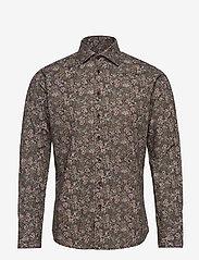 Bertoni - Dennis - business skjortor - 295 black berry - 0