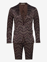 Bertoni - Suit Karlsen -Bloch - enkelknäppta kostymer - 295 black berry - 0
