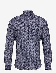 Bertoni - Hjalmar - casual skjortor - 740 dress blue - 0
