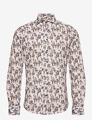 Bertoni - Hjalmar - casual skjortor - 106 antique white - 0