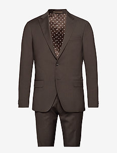 Suit Drejer-Jepsen - single breasted suits - 890 coffee bean