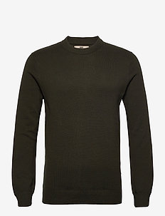 Jonas - basic knitwear - 672 forest night