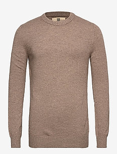 Elias - basic knitwear - 865 nutmeg