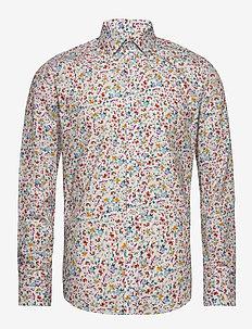 Gustav - casual skjortor - 633 aqua gray