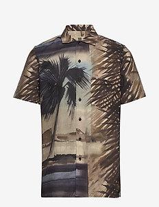 Jim - linen shirts - 844 cinnamon
