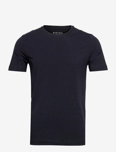 David Slim Crew S/S Tee - basic t-shirts - 781 midnight