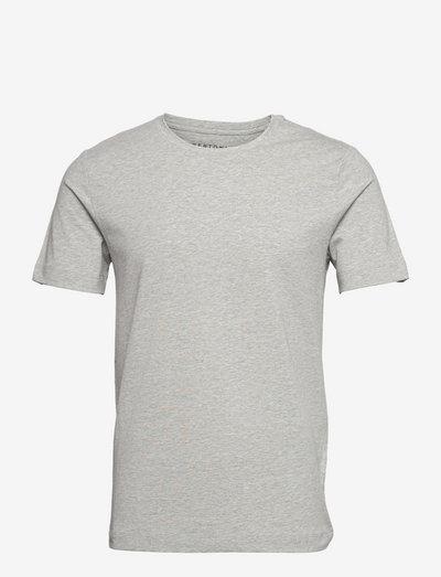 David Slim Crew S/S Tee - basic t-shirts - 907 light grey melange