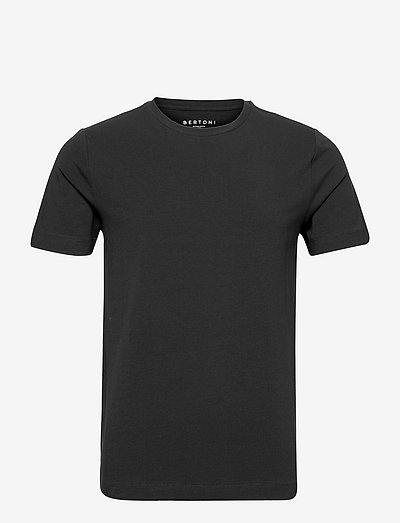 David Slim Crew S/S Tee - basic t-shirts - 997 jet black