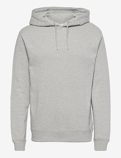 Damon Regular Hood Sweat - hættetrøjer - 907 light grey melange