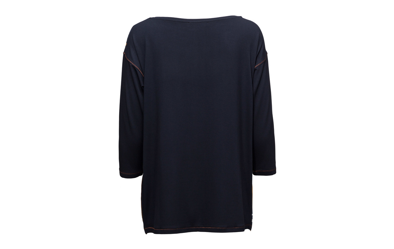Long 4 Elastane 5 Shirt Sleeve sun Viscose 95 Blue Barclay Betty Dark 3 xFOZqwUAw