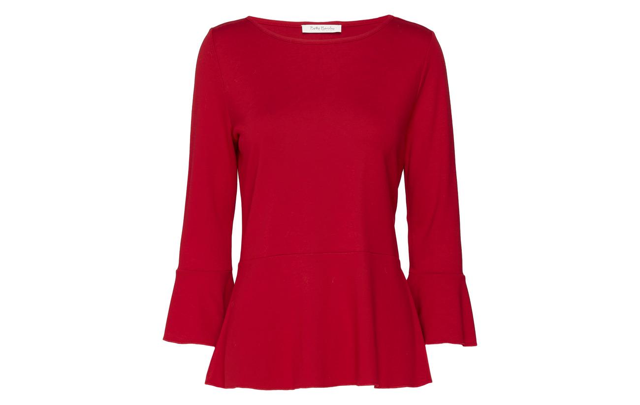 Polyester Chili Shirt 82 13 Sleeve Betty 3 Viscose Elastane 5 Barclay Short Red 4 f5qYPw