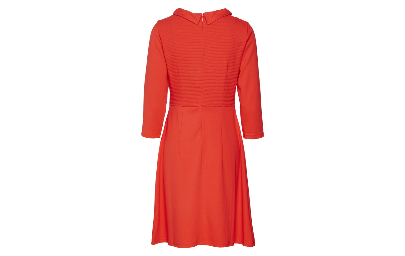 Red Short Elastane 2 Sleeve 3 Betty Barclay 4 Polyester Hibiscus Dress 70 Viscose 28 EnqnfW0
