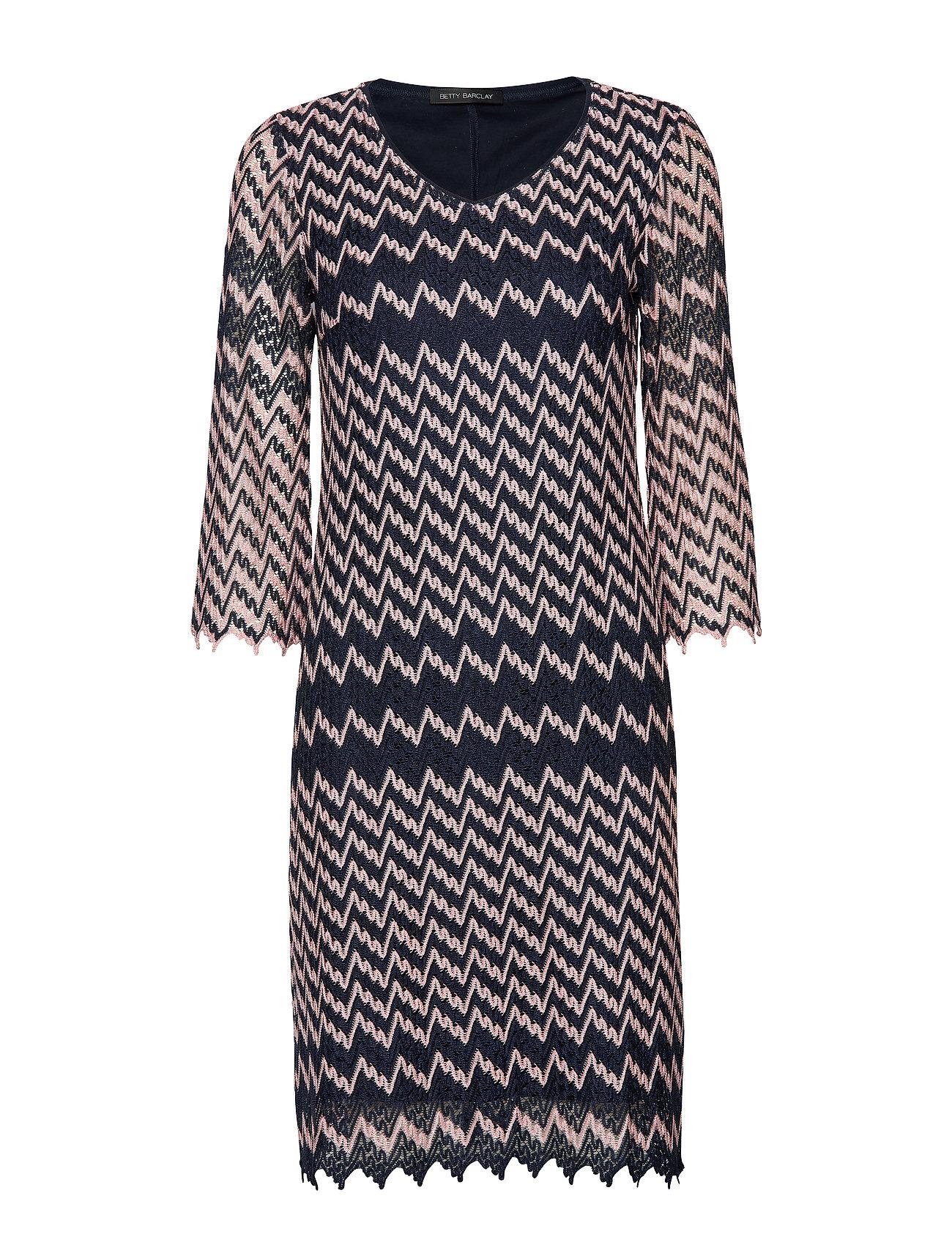 Betty Barclay Dress Short 3/4 sleeve - DARK BLUE-ROSé