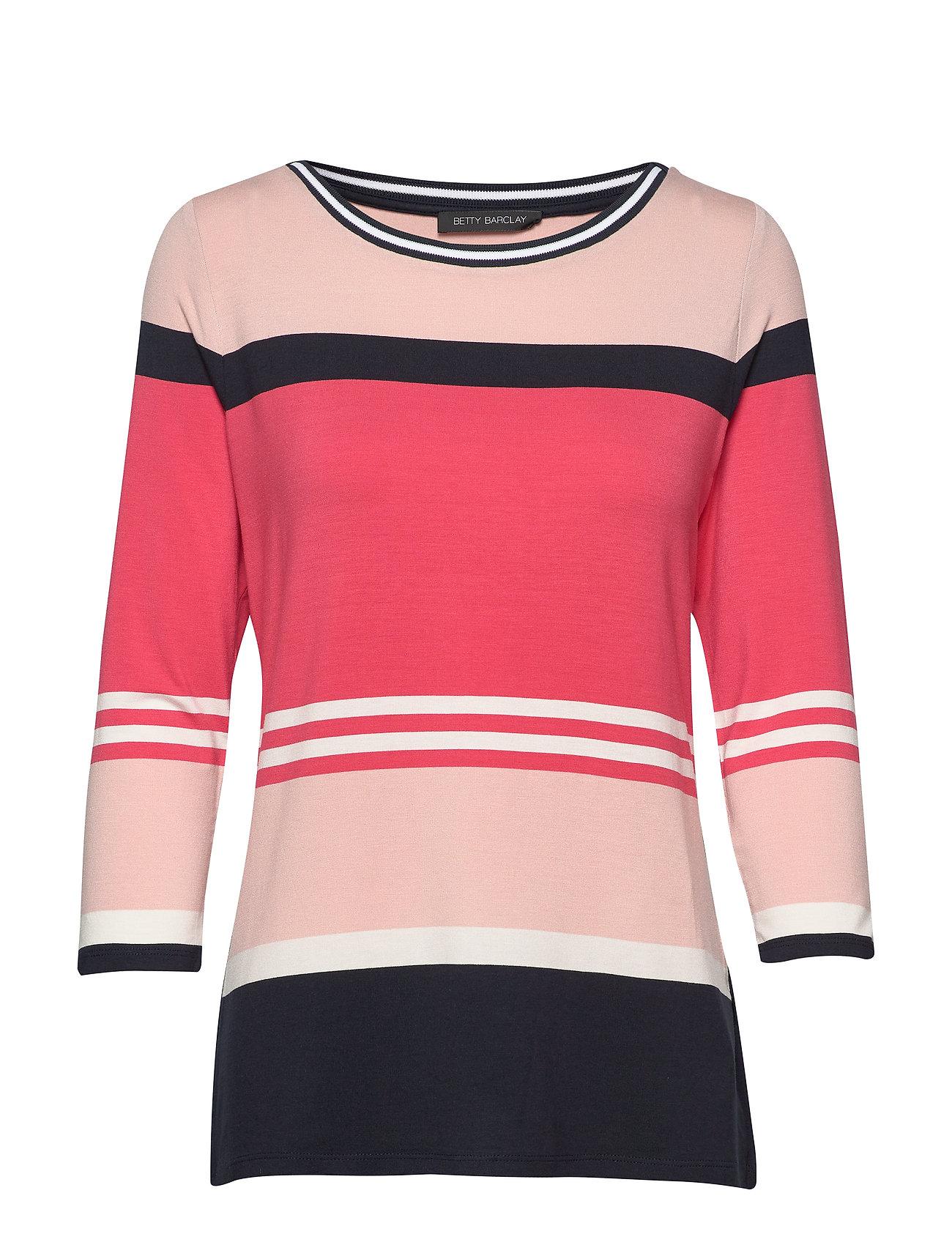 Betty Barclay Shirt Short 3/4 Sleeve - RED/DARK BLUE