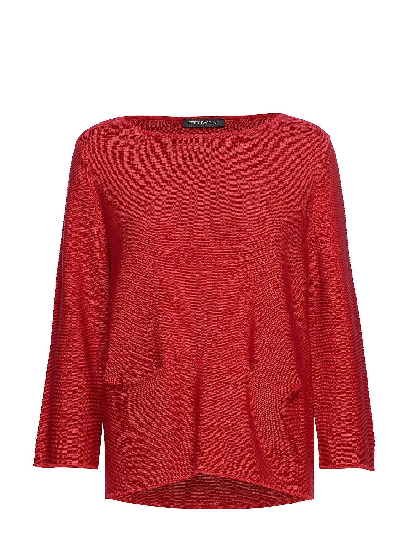 Betty Barclay Knitted Pullover Short 3/4 Sle - RED SCARLET