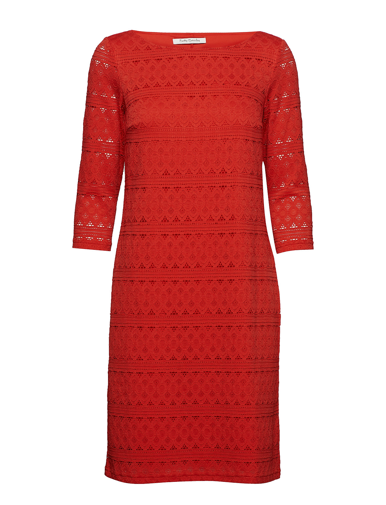 Betty Barclay Dress Short 3/4 sleeve - HIBISCUS RED