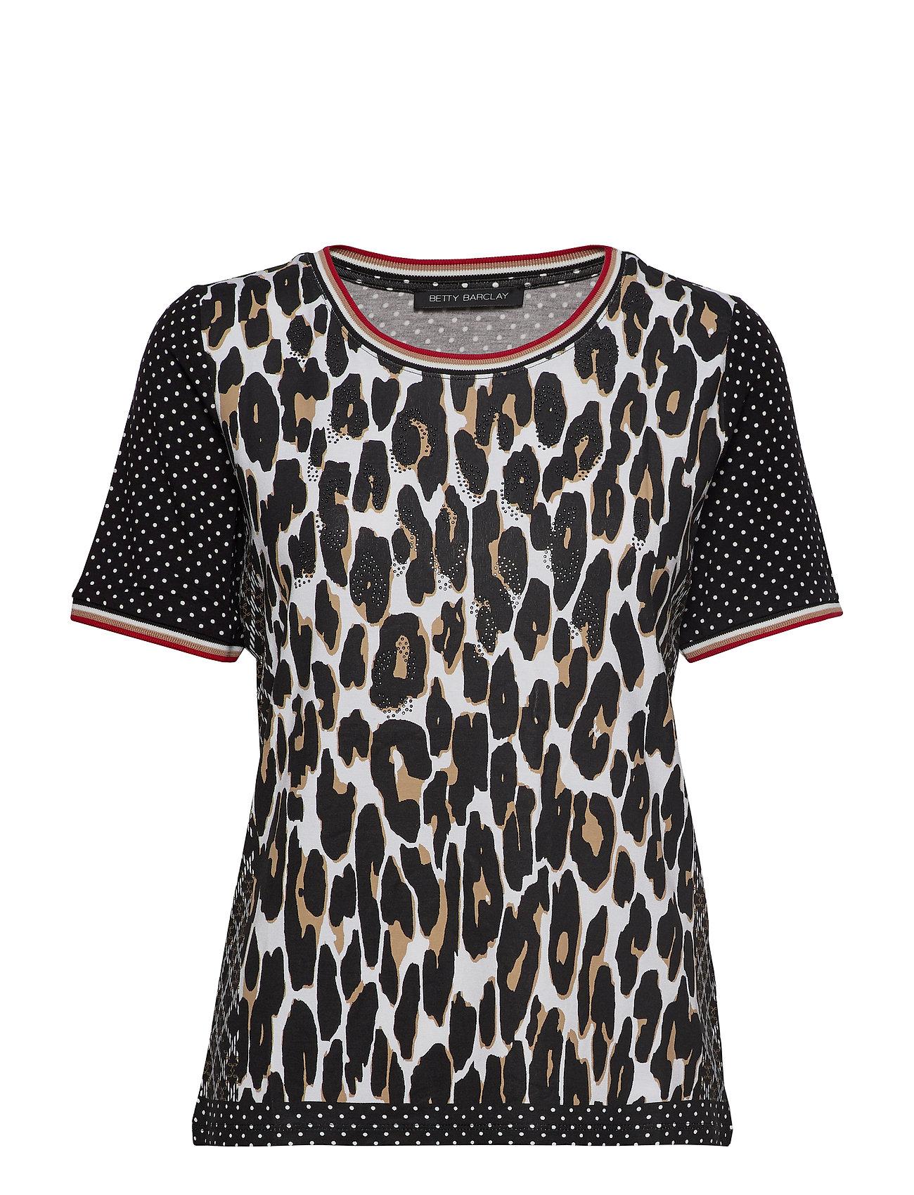 Betty Barclay Shirt Short 1/2 Sleeve - BLACK/CAMEL