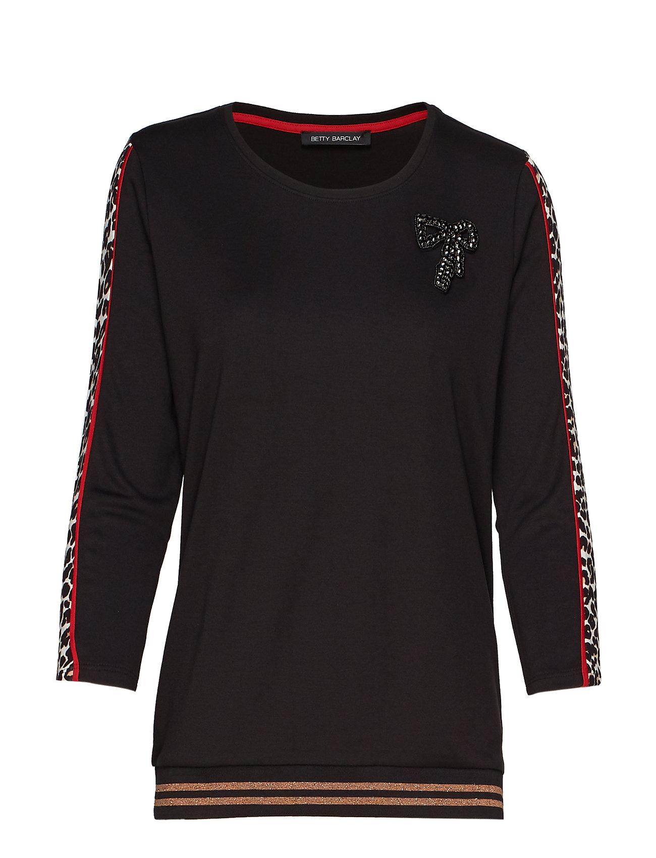 Betty Barclay Sweat Short 3/4 Sleeve - BLACK/CAMEL