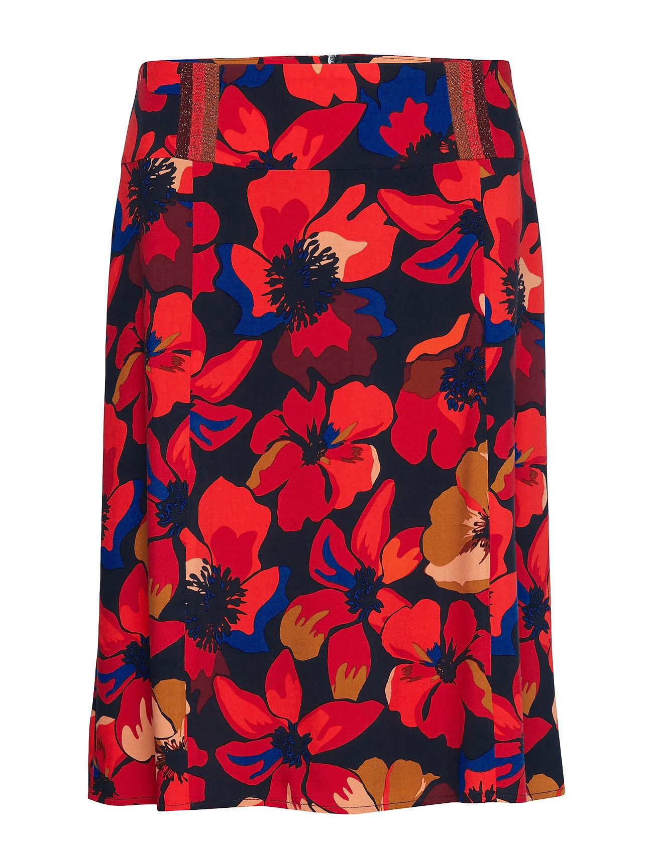 Betty Barclay Skirt Medium Length Classic - RED/DARK BLUE