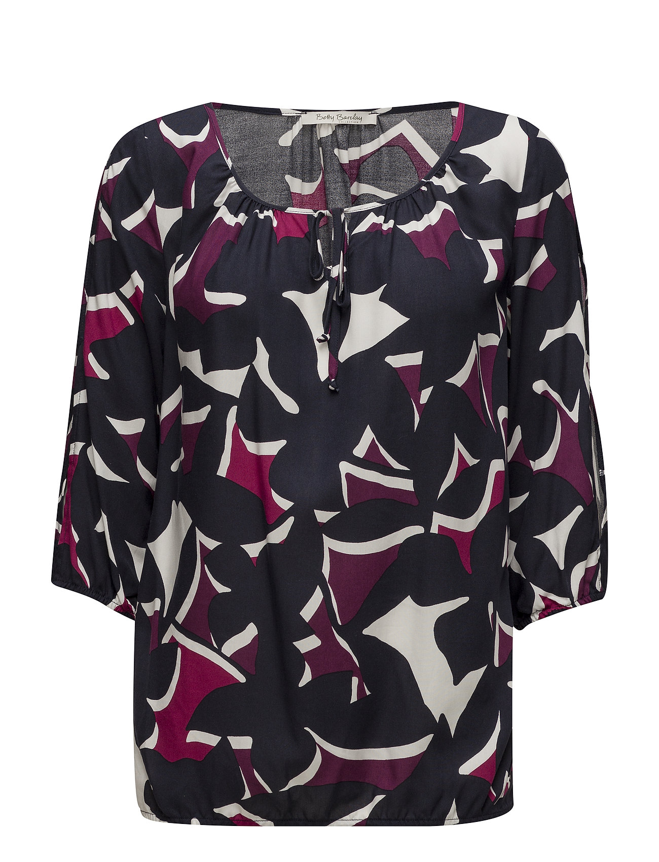 Betty Barclay Blouse Short 3/4 Sleeve - DARK BLUE/PINK