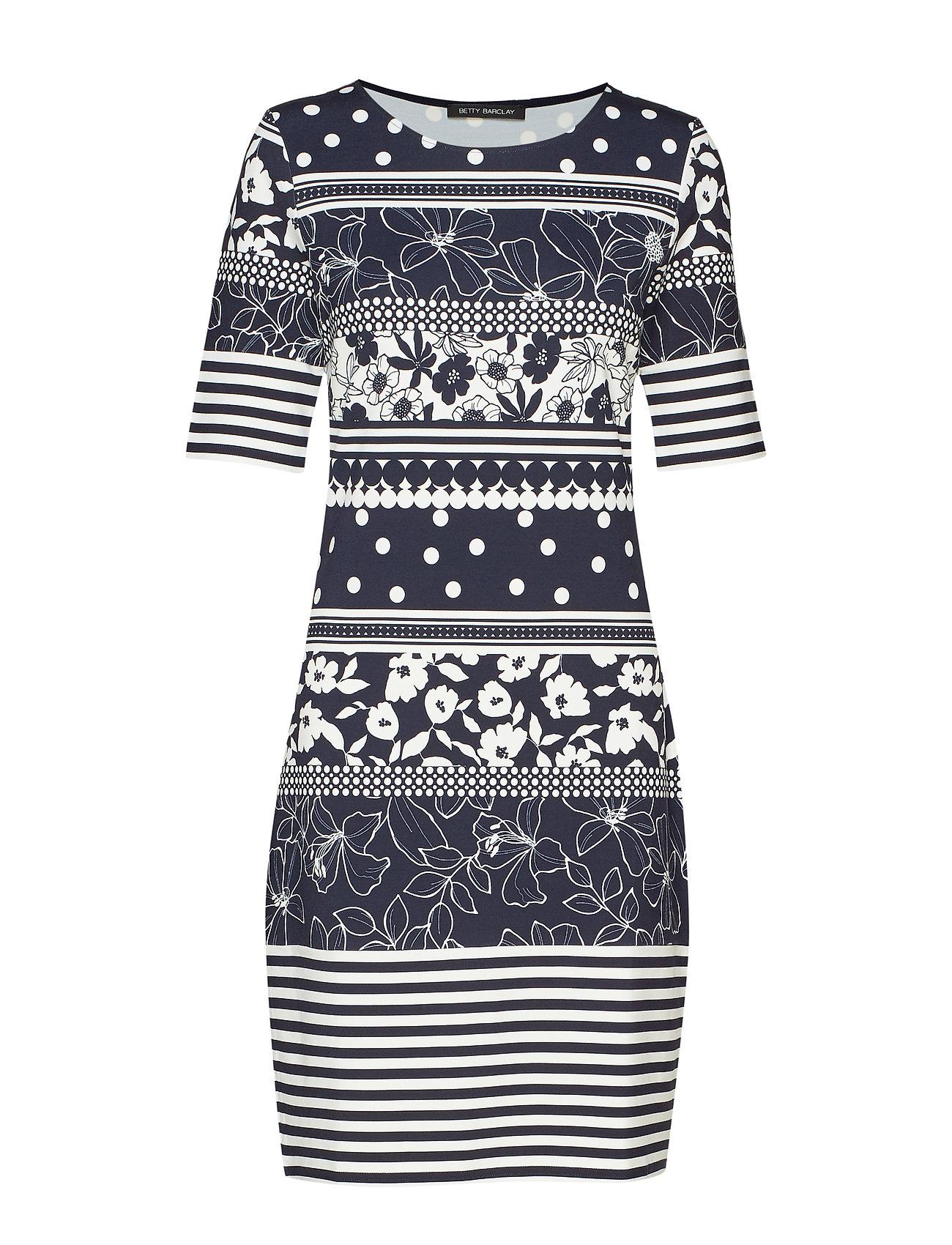 Betty Barclay Dress Short 1/2 sleeve - DARK BLUE/CREAM
