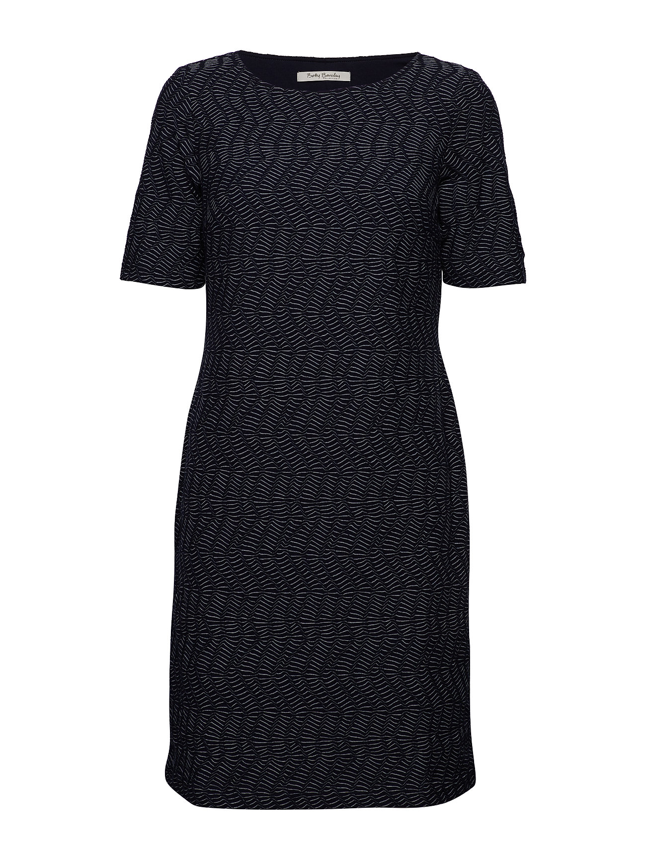 Betty Barclay Dress Short 3/4 sleeve - DARK BLUE/CREAM