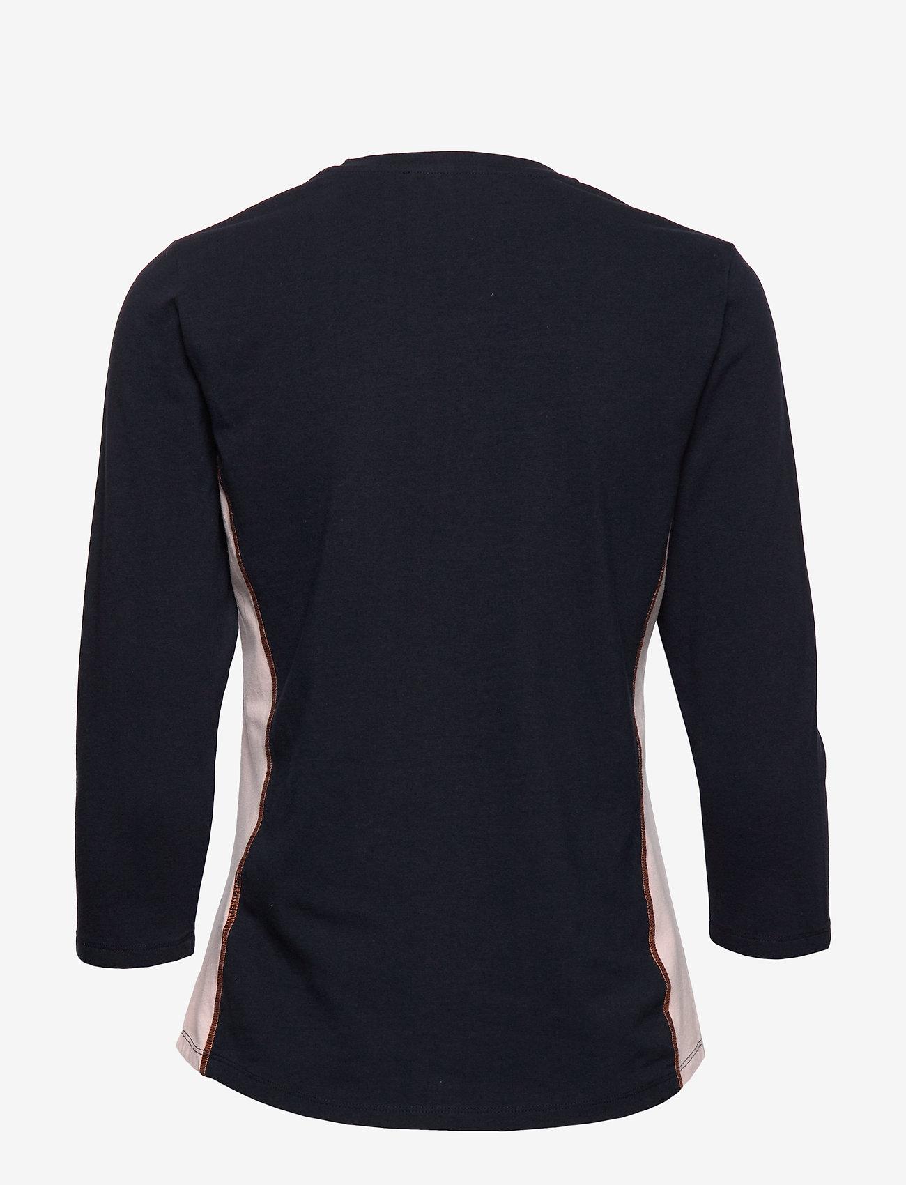 Shirt Long 3/4 Sleeve (Dark Blue/orange) - Betty Barclay hWKIx0