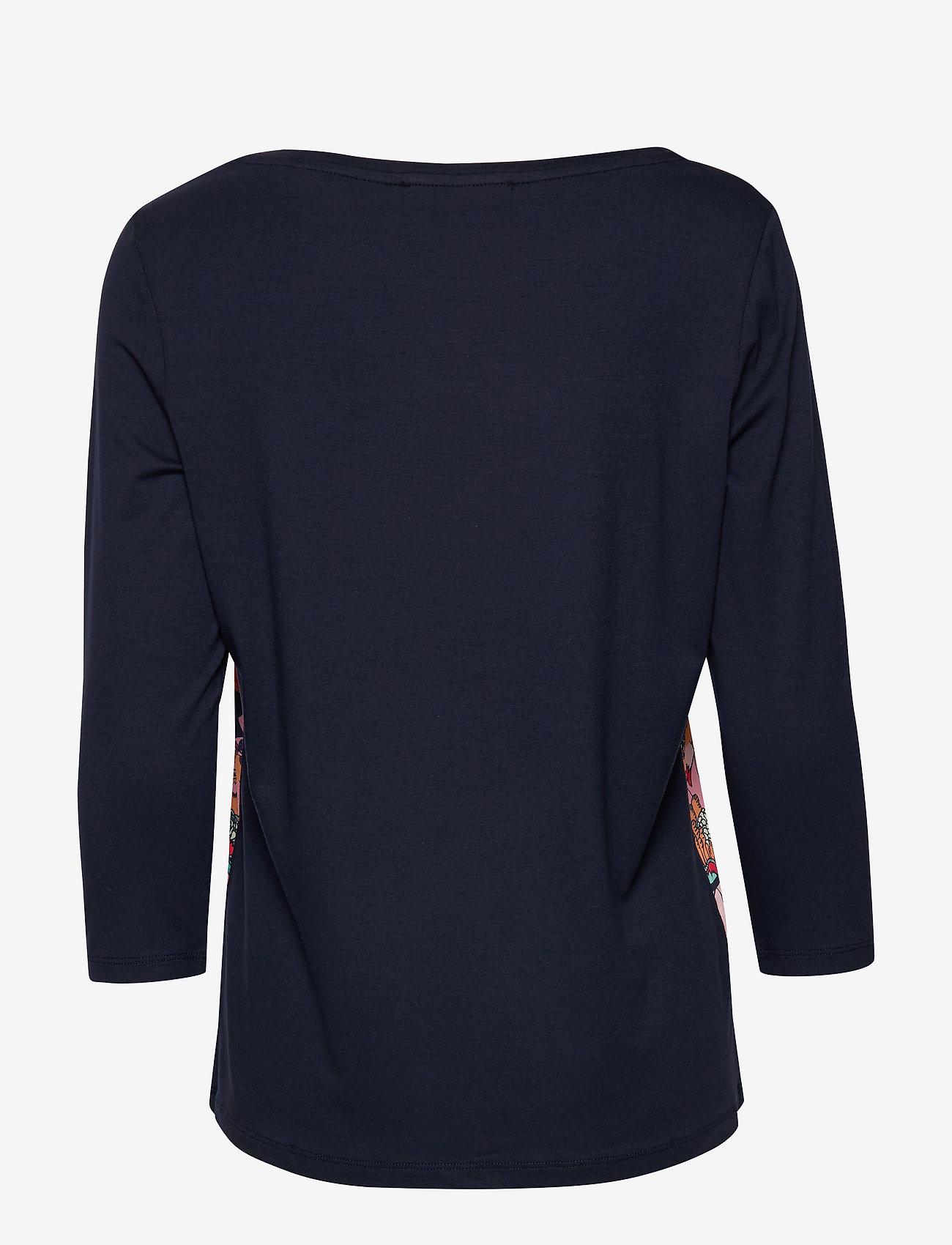 Shirt Short 3/4 Sleeve (Dark Blue/red) - Betty Barclay 3nAmcg