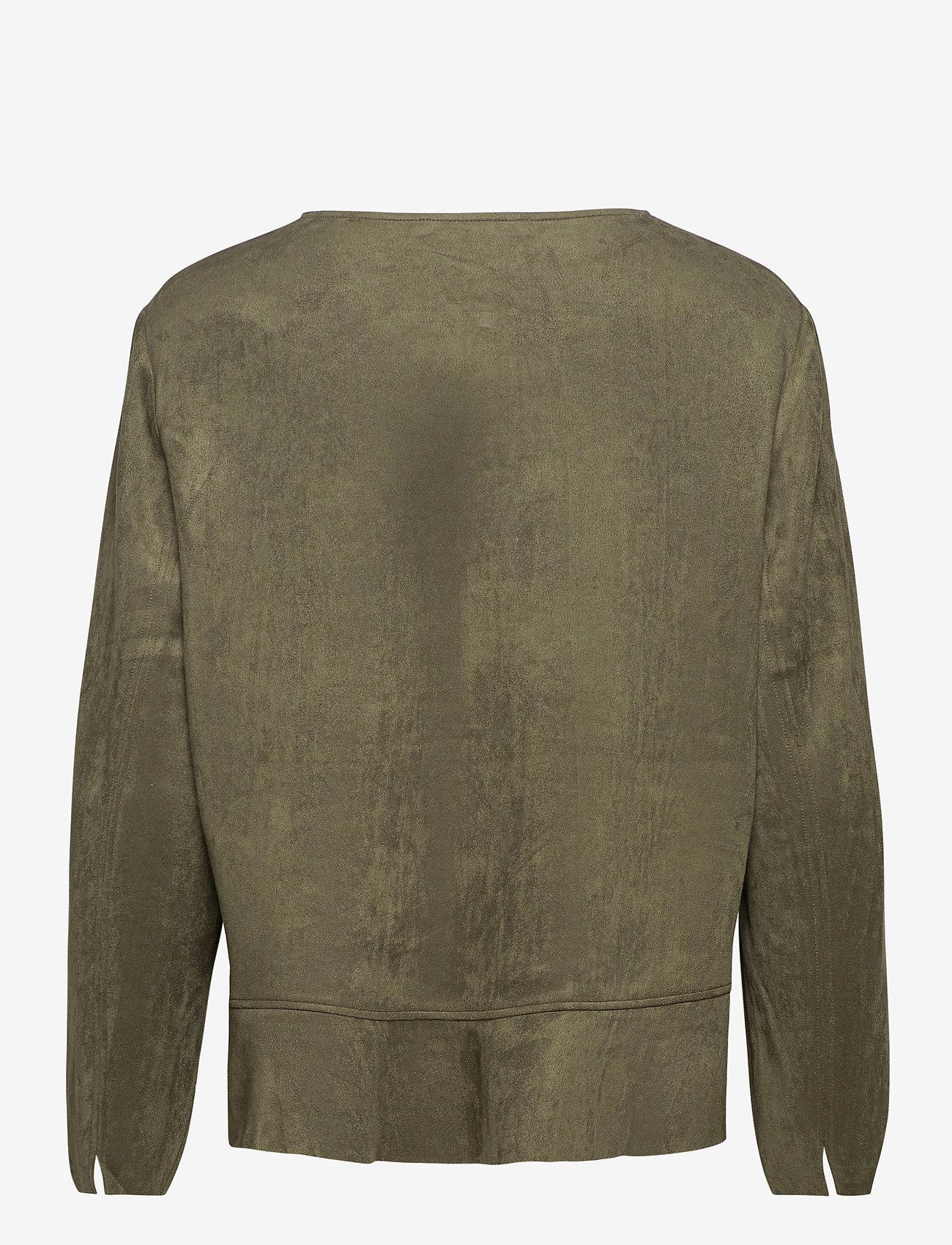 Betty Barclay - Blazer Jacket Short 1/1 Sleeve - colberts - dusty olive - 1