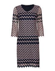 Dress Short 3/4 sleeve - DARK BLUE-ROSé