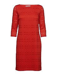 Dress Short 3/4 sleeve - HIBISCUS RED