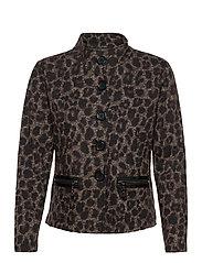 Blazer Jacket Short 1/1 Sleeve - BLACK/TAUPE