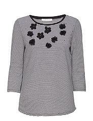 Shirt Long 3/4 Sleeve - BLACK/CREAM