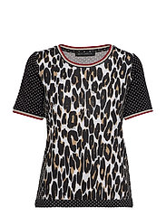 Shirt Short 1/2 Sleeve - BLACK/CAMEL