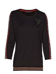 Sweat Short 3/4 Sleeve - BLACK/CAMEL