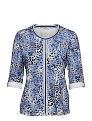 Shirt Short 3/4 Sleeve - DARK BLUE/BLUE