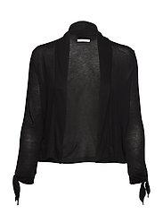 Shirt Jacket Short 3/4 Sleeve - BLACK