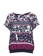 Shirt Short 1/2 Sleeve - DARK BLUE/PINK