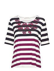 Shirt Short 1/2 Sleeve - CREAM/PINK