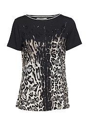Shirt Short 1/2 Sleeve - BLACK-NATURE