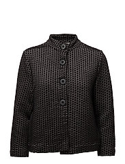 Sweat Jacket Short 3/4 Sleeve - BLACK/CREAM