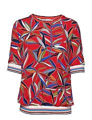 Shirt Short 1/2 Sleeve - RED/BLUE