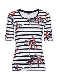Shirt Short 1/2 Sleeve - DARK BLUE/WHITE