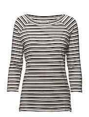 Shirt Short 3/4 Sleeve - BLACK/CREAM
